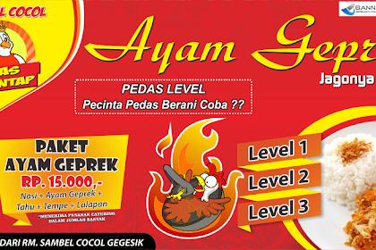 15+ Best New Contoh Desain Banner Ayam Geprek