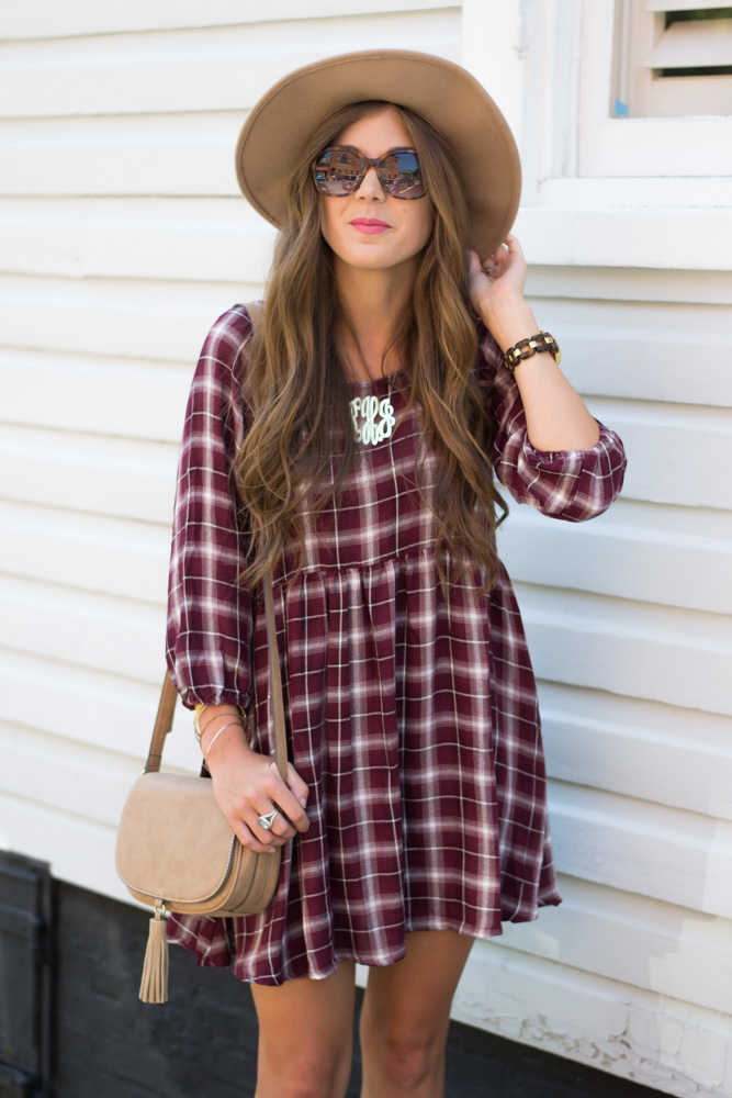 Plaid Fall Dress | Chasing Cinderella