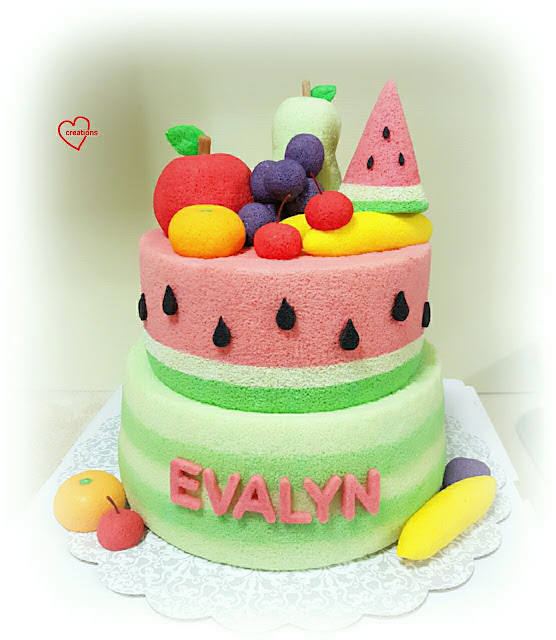 Watermelon Decorated Birthday Cake Girl