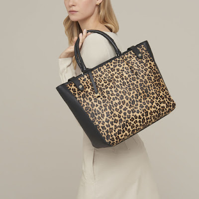 radley leather open top tote bag witney faux leather leopard print