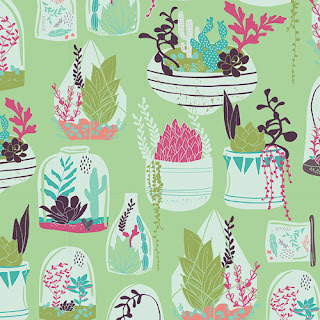 Succulence by Bonnie Christine Habitat Luscious Succulent Quilt Fabric