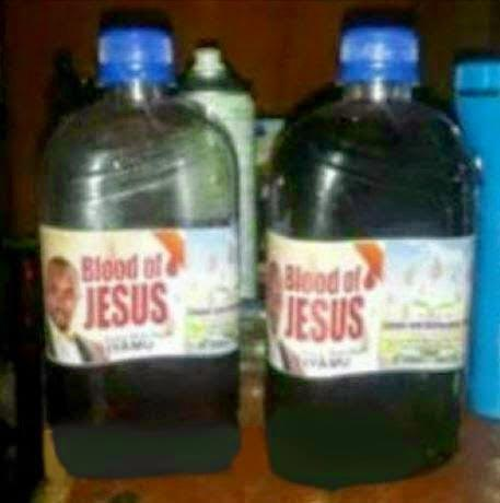 Dafuq? This pastor is selling the blood of Jesus Chris in a bottle