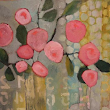 "Contemporary Abstract Still Life Flower Art Painting ""Sunday Morning"" by Santa Fe Artist Annie O'Brien Gonzales"