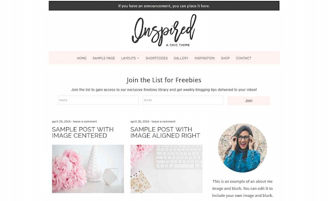 Beautiful Dawn Designs Blog Theme