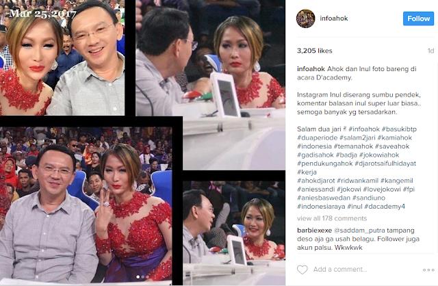 Foto Bareng Ahok di Acara Dangdut, Inul Daratista Dituding Hina Ulama Gara-gara Ini