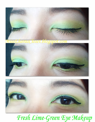 Lime green eye makeup