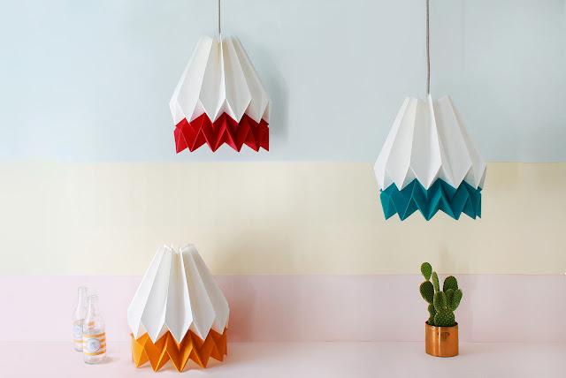 geometric colour pendant light
