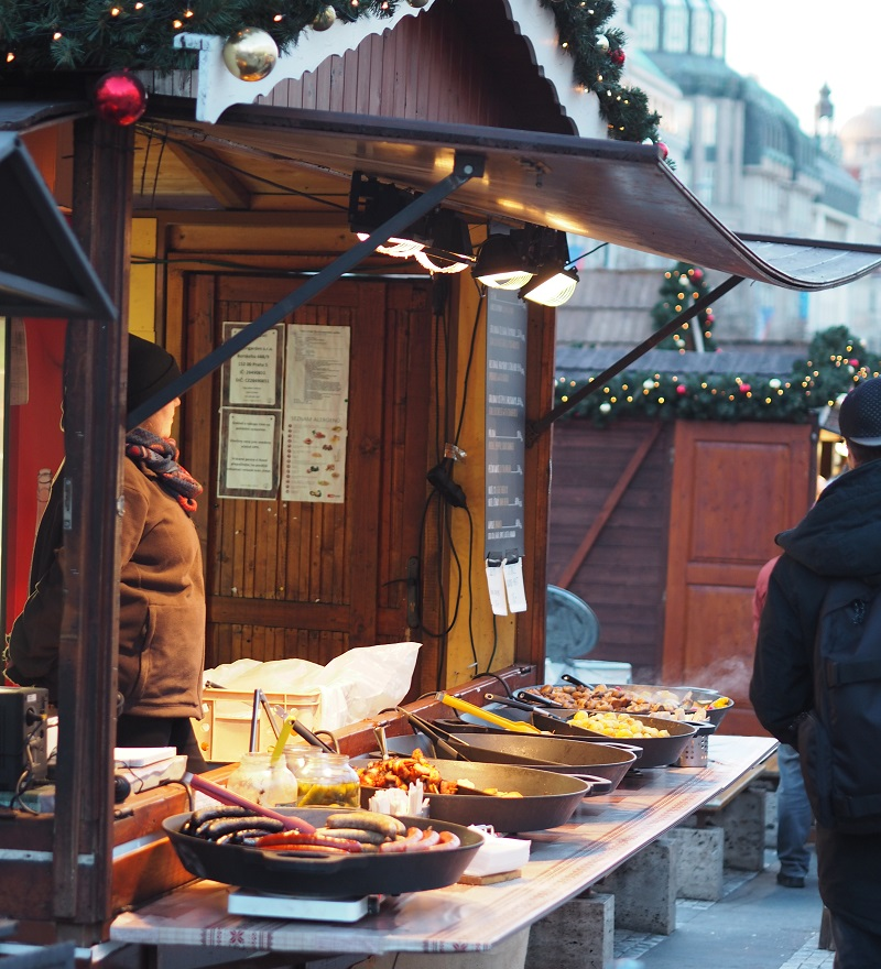 Wenceslas Square market Prague