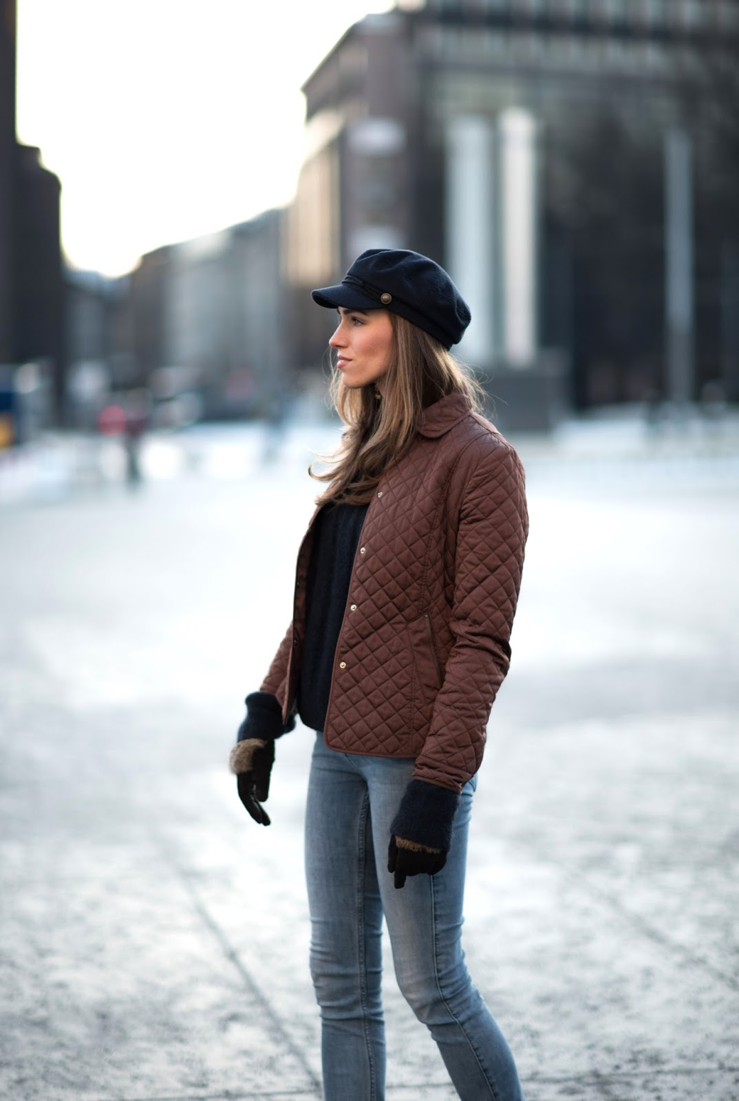 quilted jacket street style