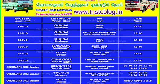 Rameswaram SETC Bus Timings