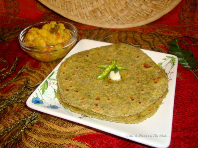 images of Oats Broccoli Paratha - Healthy Paratha Recipes / Easy Indian Bread Recipes