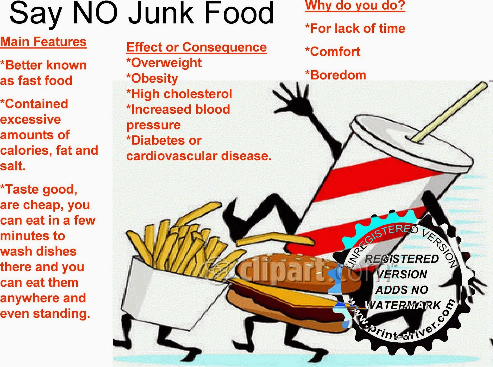 TENzine com es: SAY NO TO JUNK FOOD