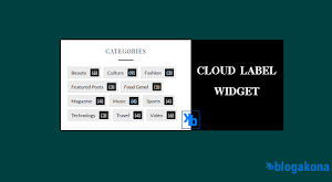 How to Add A Stylish Cloud Label Widget In Blogger