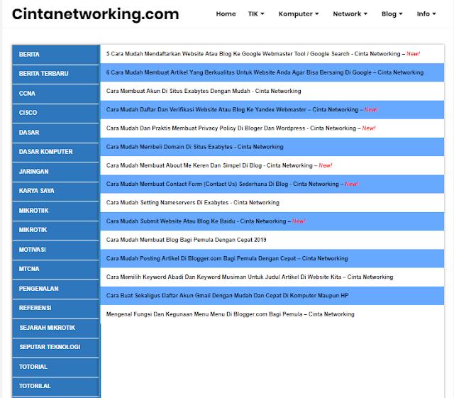 Cara Mudah Membuat Sitemap SEO Frienly Sederhana Di Blogspot - Cinta Networking