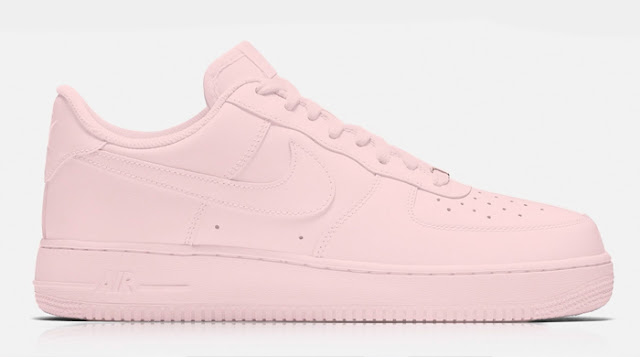 Nike Air Force 1 rose quartz