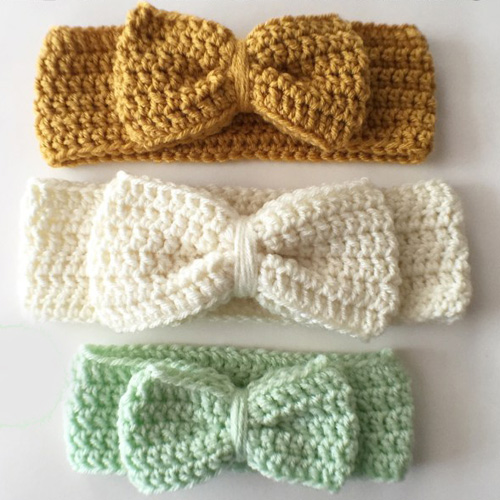 Crochet Bow Headwrap - Free Pattern