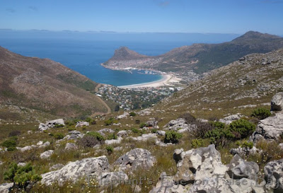 Down to Hout Bay from Skoorsteenberg