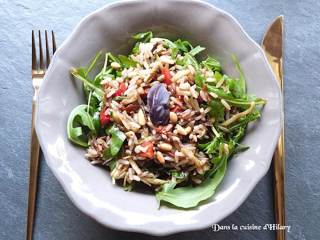 Salade de riz sauvage à l'Italienne