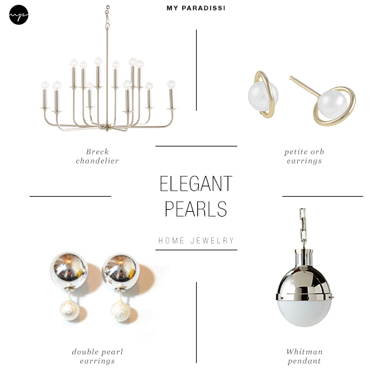 Ceiling  light jewels for the home | Elegant pearls