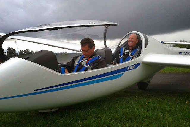Uli Schwenk and Udo Markert after the flight