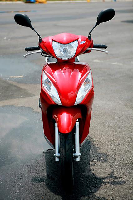 Sơn xe Honda Vision màu đỏ zin cực đẹp