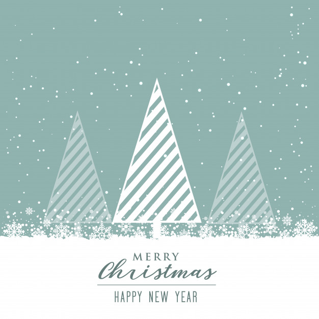 Beautiful christmas background with creative tree design Free Vector