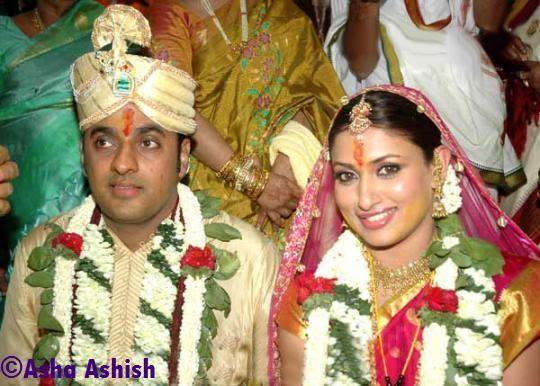 Asha Ashish: South Actress Malavika Wedding Pictures
