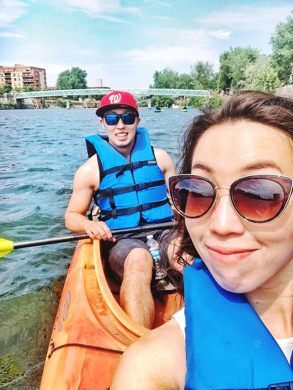 2 Days in Montreal - A Guide to What to Do and Where to Eat - H2O Adventures Lachine Canal Kayak