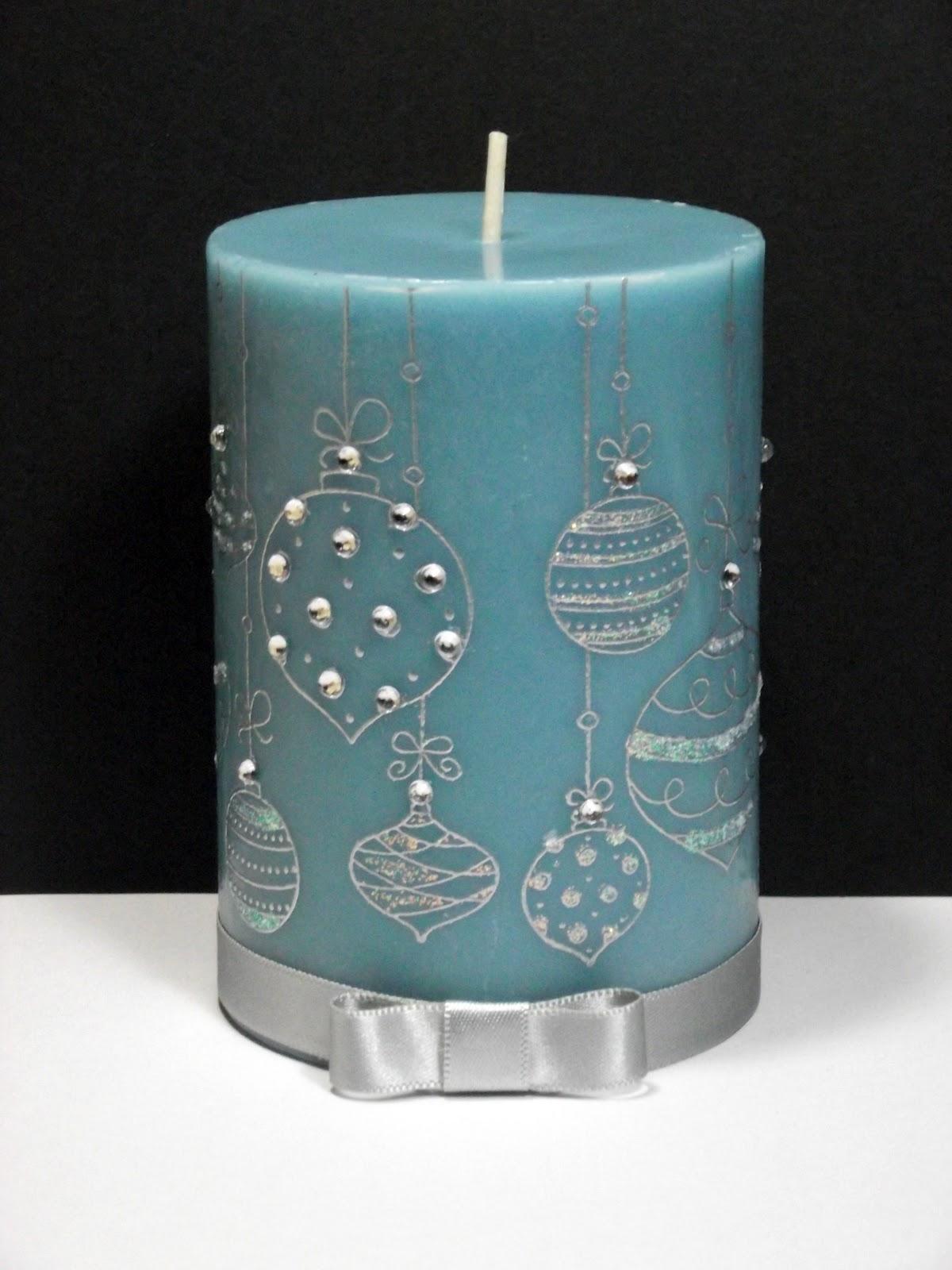 Christmas Travaganza Decorated Candles A Blog Named Hero