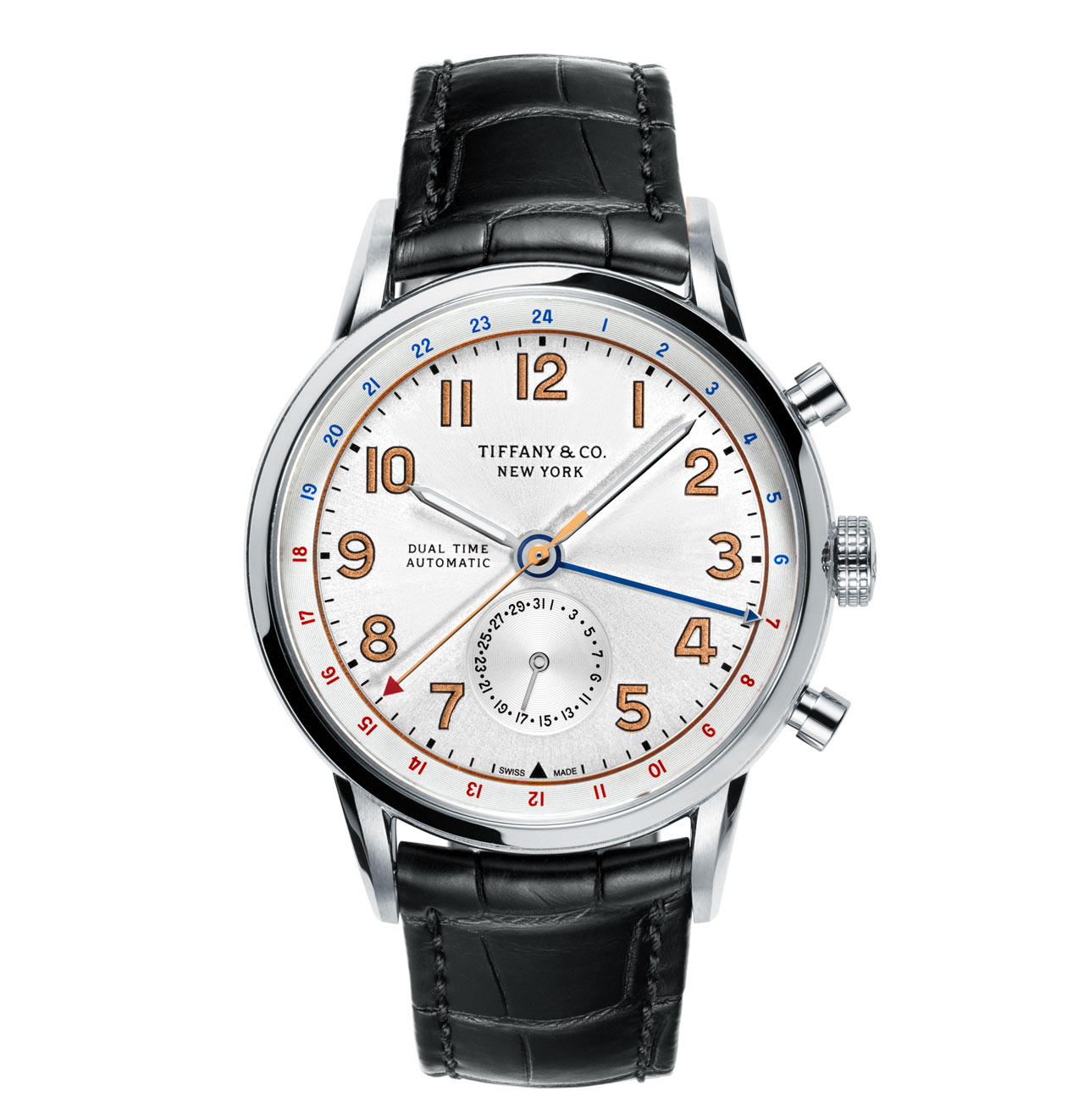 47b4ebe631f4 The local time zone can be quickly adjusted by using the two push-buttons  which give the watch the look of a chronograph. The 2 o  clock pusher is  used to ...