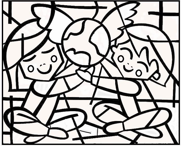 desenhos de obras de romero britto para pintar colorir imprimir