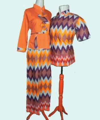 gamis batik dasi couple