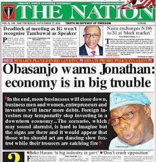 2 Years Ago When Obasanjo Predicted This RECESSION As Jonathan Was RECKLESS With The Economy
