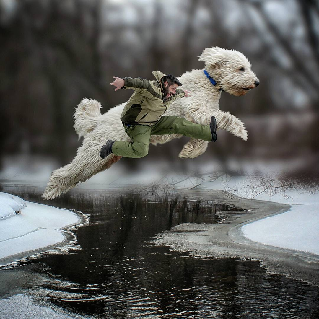 10-Oh-No-Christopher-Cline-Juji-The-Giant-Dog-Photo-Manipulations-www-designstack-co