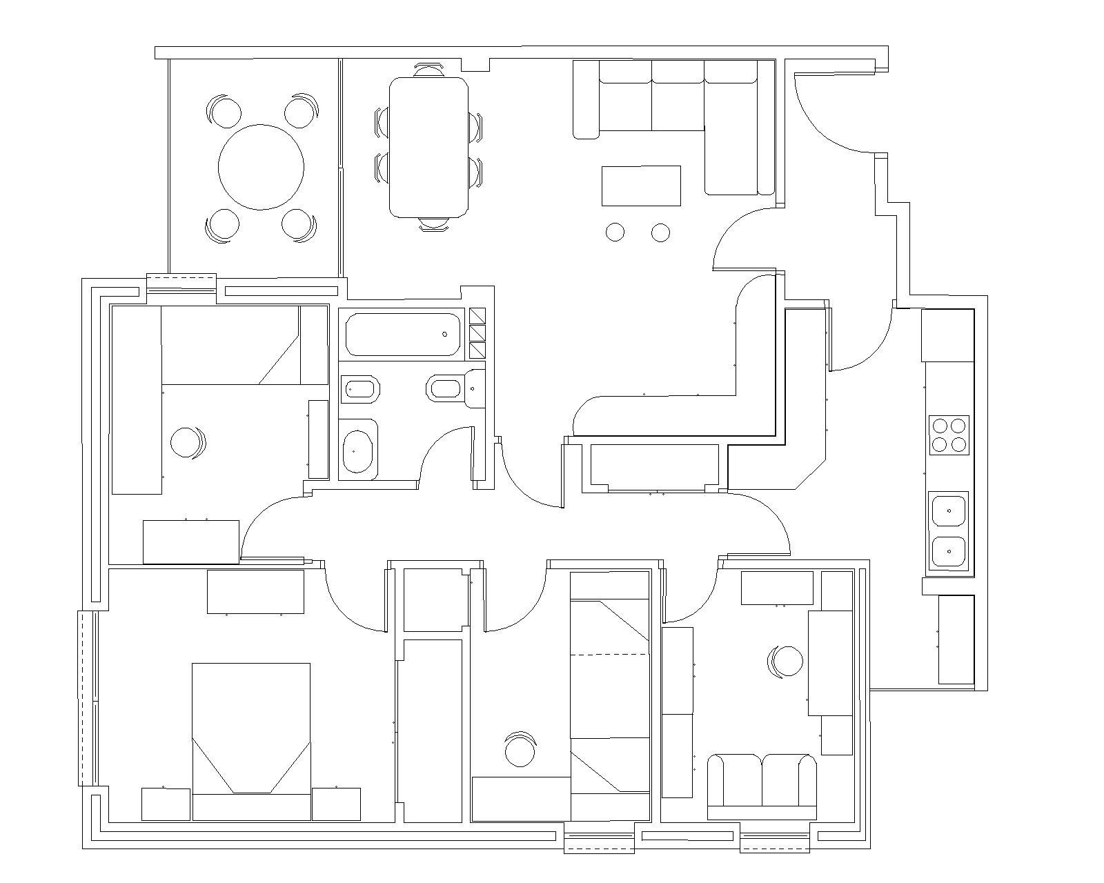 Trabajos tico planos casa autocad - Programa para planos de viviendas ...