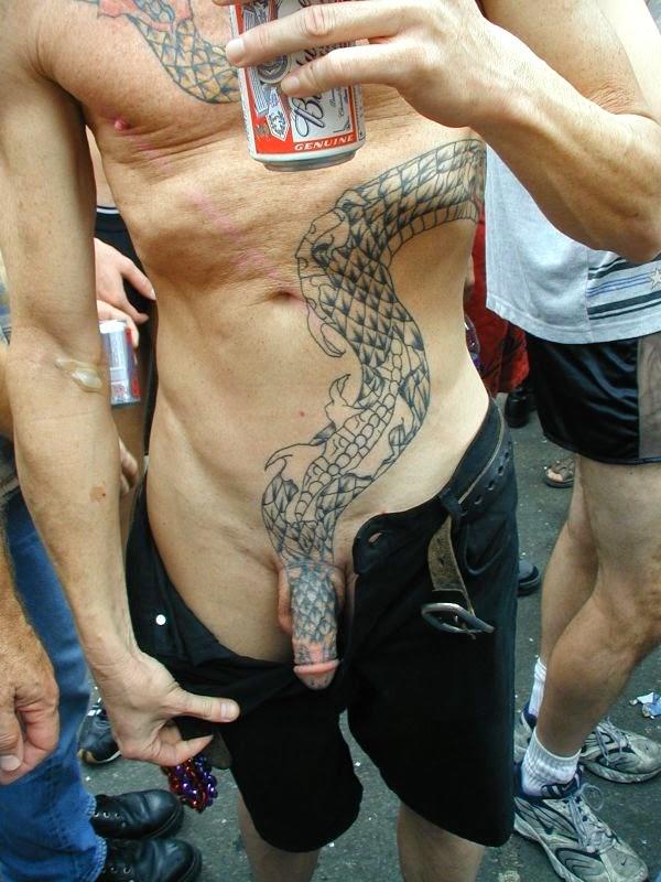 Tattoos of penises
