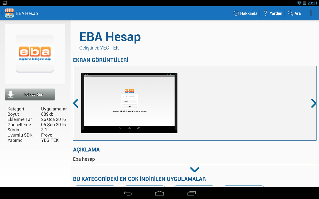 E-Tab 4 Tablet Bilgisayarlarda V Sınıf Kullanımı