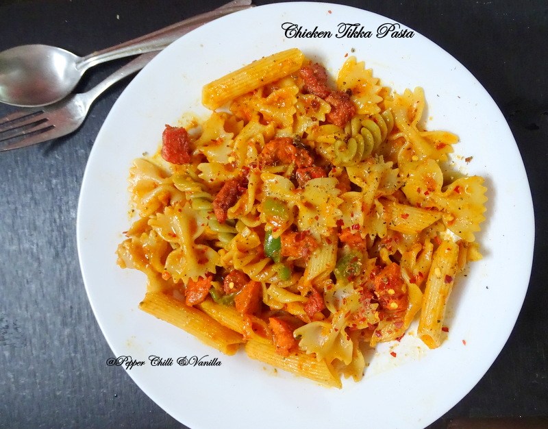 cheesy chicken tikka masala pasta