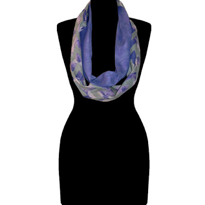 Beau Monde Organics luxurious 'Uptown-Soiree' organic cotton art scarf, made in Los Angeles, USA