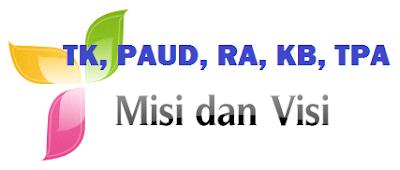 Contoh Visi/ Misi/ Tujuan TK/ PAUD/ KB/ RA/ TPA