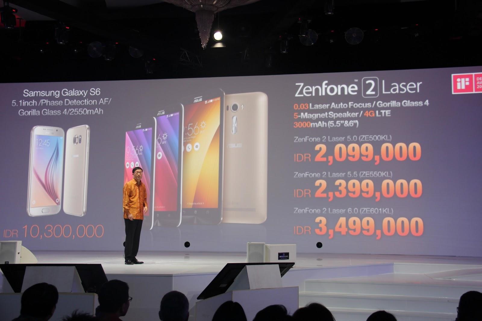 ASUS Meluncurkan Keluarga Baru Zenfone 2 Laser 4G Di Indonesia