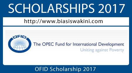OFID Scholarship 2017