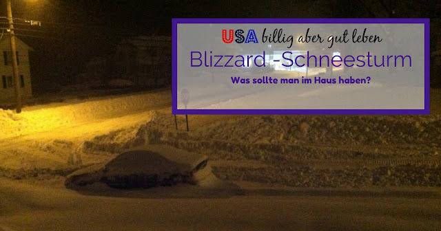 Wie verhält man sich bei einem Blizzard