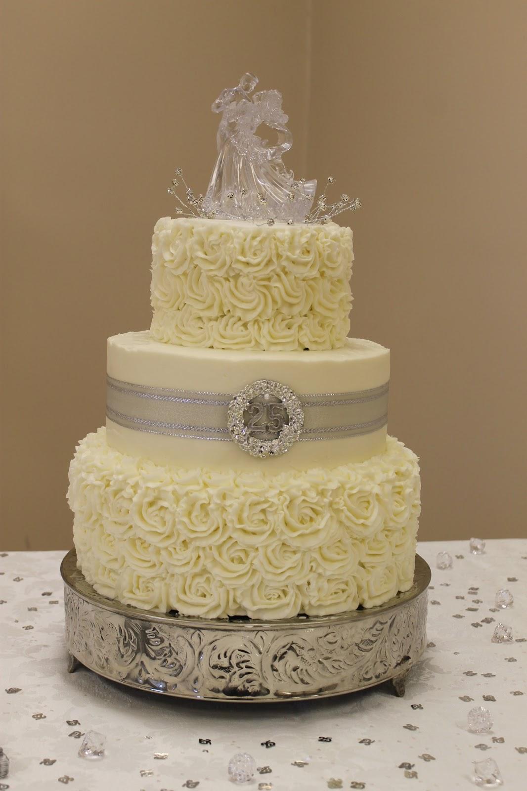 The Simple Cake Silver Wedding Anniversary Cake