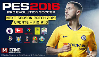 PES 2016 Next Season Patch 2019 Update + Fix V1.0