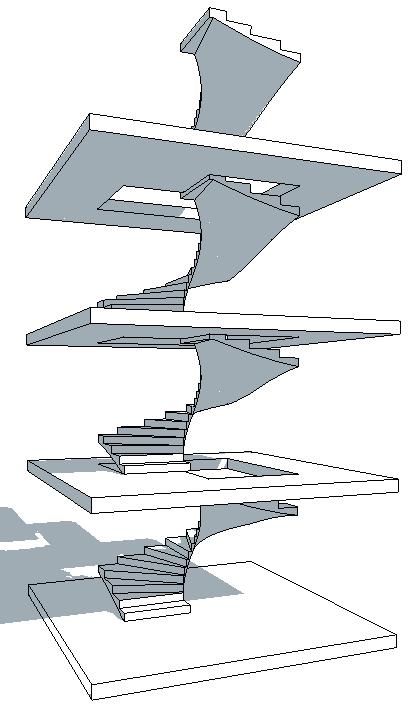 escalier helicoidal revit