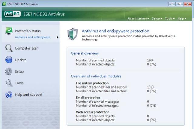 تحميل برنامج نود انتي فايروس للكمبيوتر ESET NOD32 AntiVirus