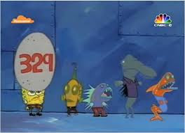 Spongebob Mengantri