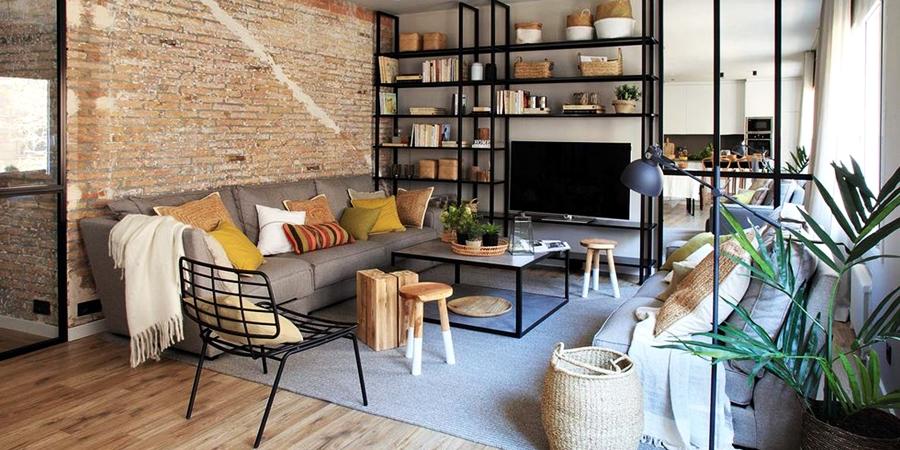 Industrialne elementy w stonowanym wnętrzu, wystrój wnętrz, wnętrza, urządzanie domu, dekoracje wnętrz, aranżacja wnętrz, inspiracje wnętrz,interior design , dom i wnętrze, aranżacja mieszkania, modne wnętrza, styl industrialny, styl loftowy, loft, stonowane kolory, naturalne dodatki, czarne dodatki,