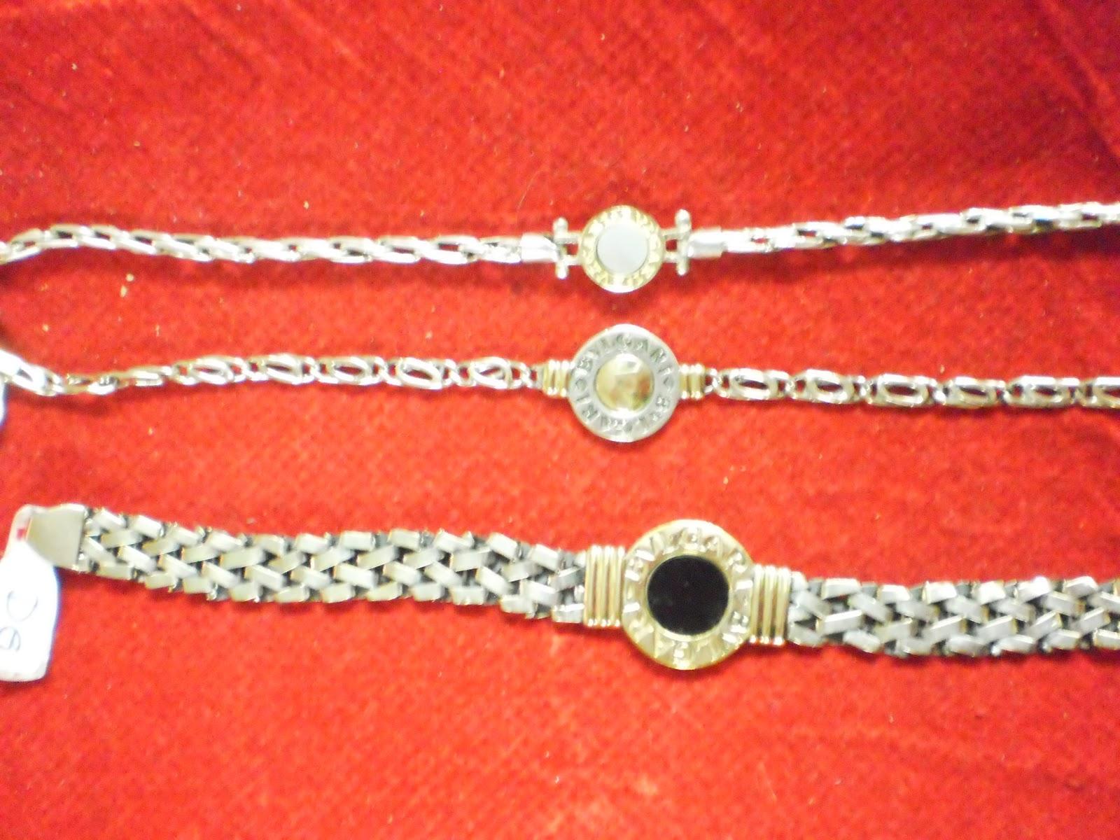 127976cbacf7 Aghata joyas  Pulsera plata y oro Bvlgari diferentes formas